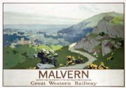 Malvern Hills, Worcestershire. GWR Vintage Travel poster by Graham Petrie